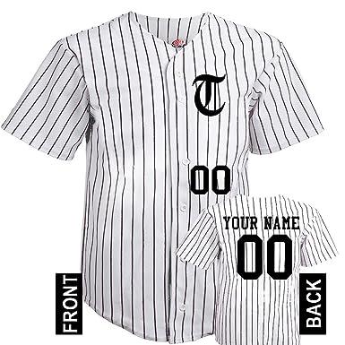 Amazon com: Hardkor Sports 6 Button Personalized Baseball Jersey