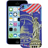 Heartly World Series Printed Design High Quality Hard Bumper Back Case Cover For Apple iPhone 5C - Washington Blue