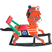 J.K.Toys&Enterprises Wooden Red Color Horse Rocking Rider for Kids