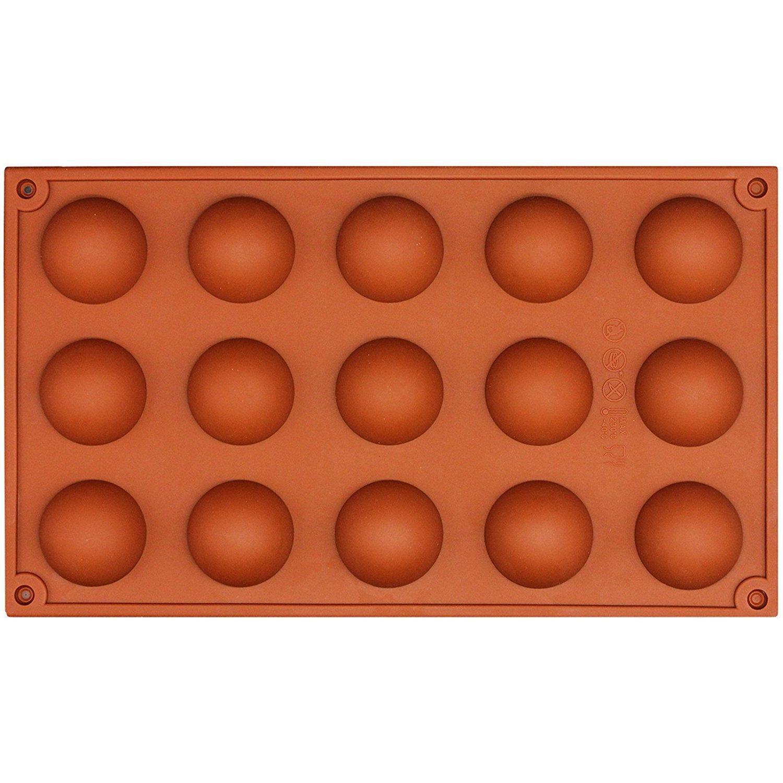 nicebuty 15 cavidades molde de silicona domo Demi Esfera punta semirredonda, flexible de silicona Chocolate caramelos Pastel trufa mini-gâteau de té ...