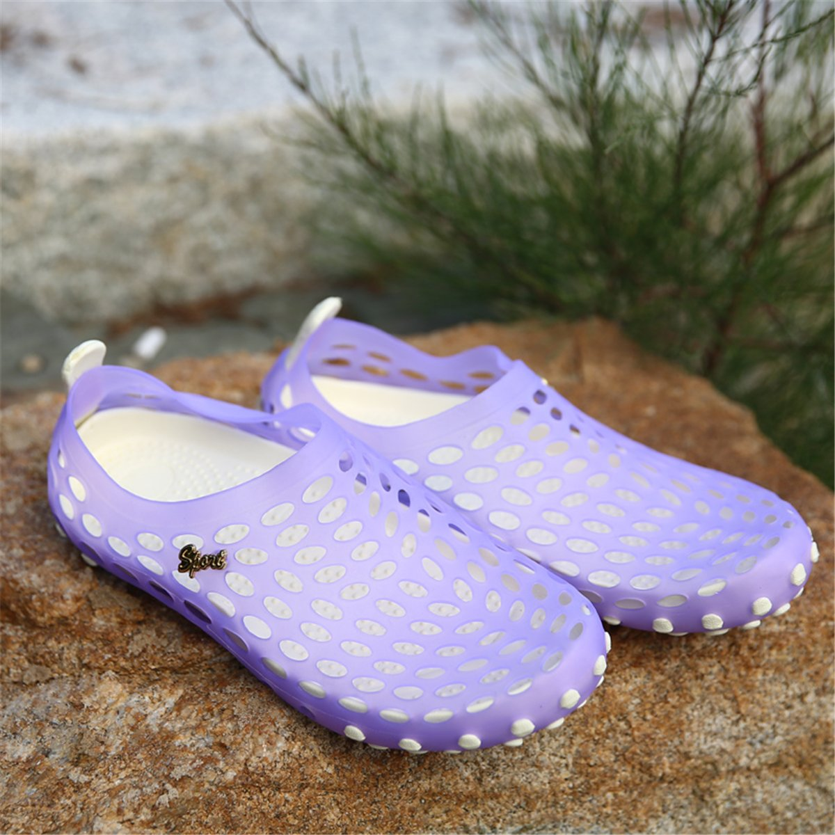 7f5ff1606acd Pairlers Water Shoes for Women Sandals Shower Swim Pool Beach River Shoes  Aqua Comfort Garden Clogs ...