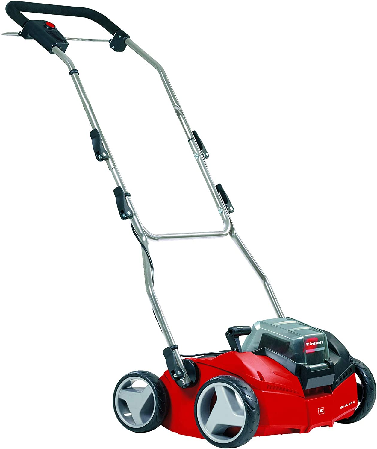 Red Einhell GE-SA 1335 P Petrol Scarifier//Aerator with 35 cm Working Width