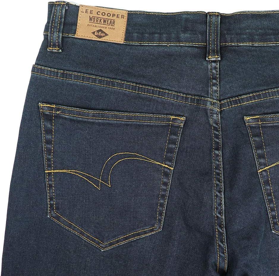 Lee Cooper Pantalon Jean en denim stretch pour homme bleu