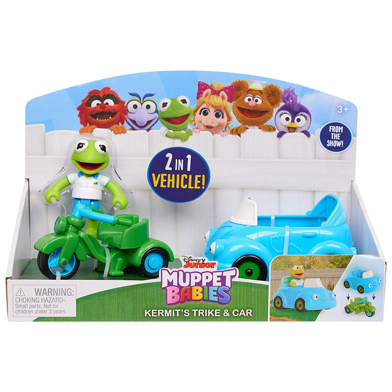 Muppets Babies Set Kermit Trike /& Car-Piggy Trike /& Carriage-Babies Fozzie Trike /& Train Disney Junior