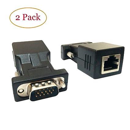 amazon vga extender adapter cat5 cat6 rj45 vga 15 pin male to Cat 7 Wiring Diagram vga extender adapter cat5 cat6 rj45 vga 15 pin male to rj45 female