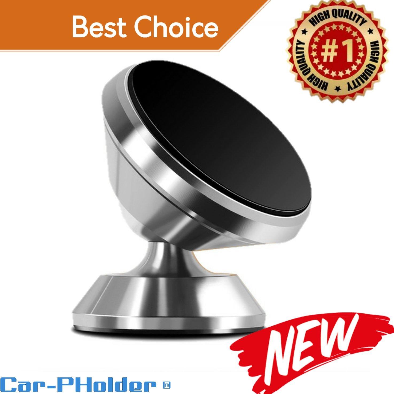 自動車電話ホルダー磁気マウントユニバーサル360回転スタンドメタル携帯電話ホルダーの車ダッシュボードマウントfor iPhone Samsung AndroidスマートフォンGPSセットキット& # x1 F525 ; car-pholder & # x1 F525 ; B07B8ZGN39 シルバー シルバー