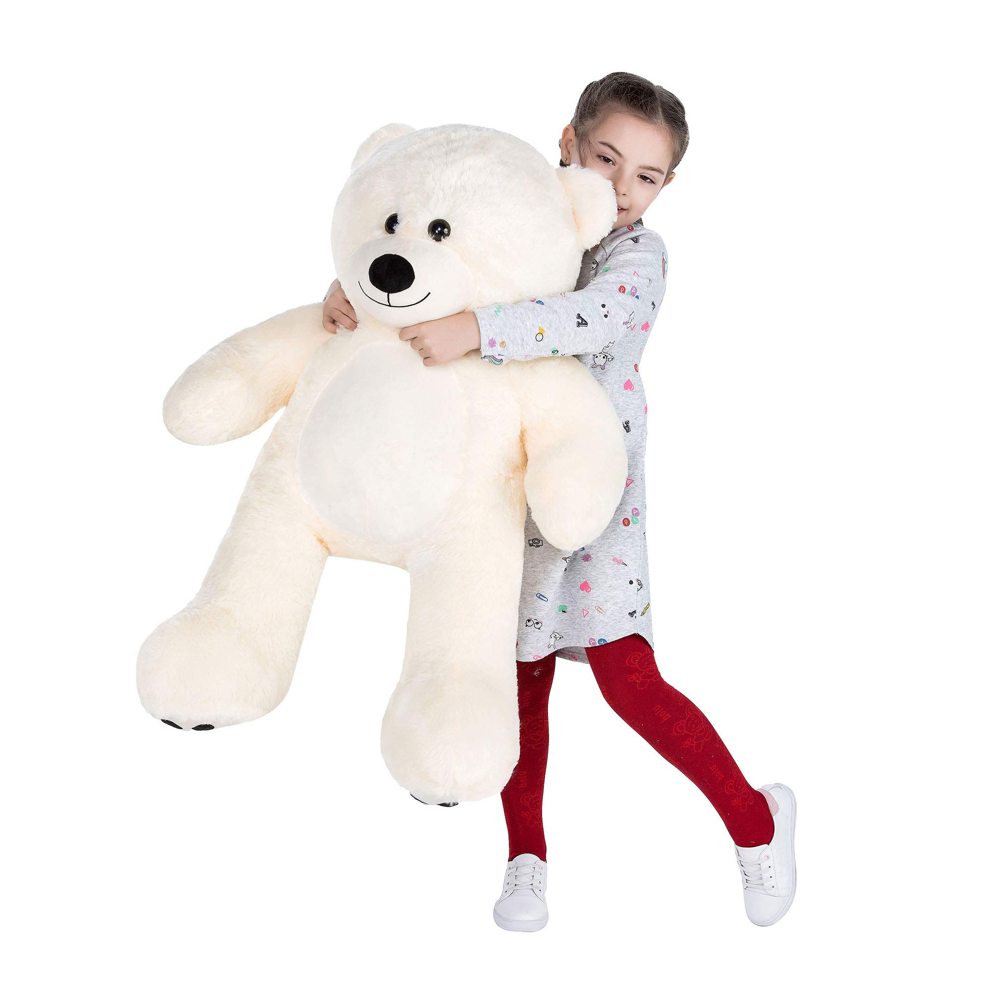 VERCART Giant Huge Cuddly Stuffed Animals Plush Teddy Bear Toy Doll for Birthday Children's Day Valentine's Day (36 inch, White) by VERCART