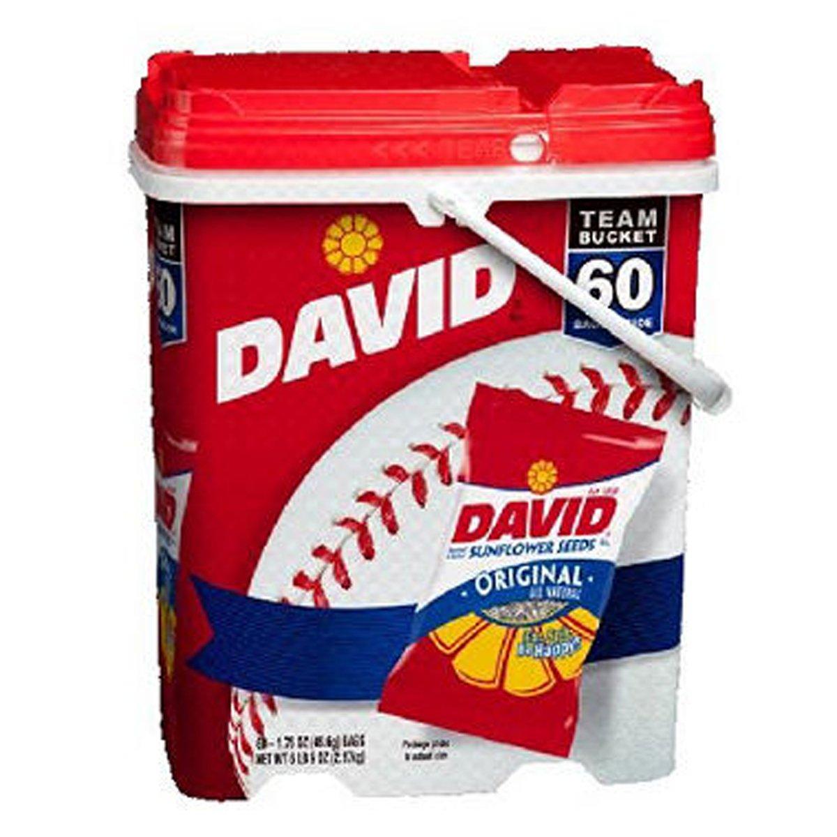SCS David Sunflower Seed Bucket - 1.75 oz. pk. - 60 ct. by DAVID Seeds