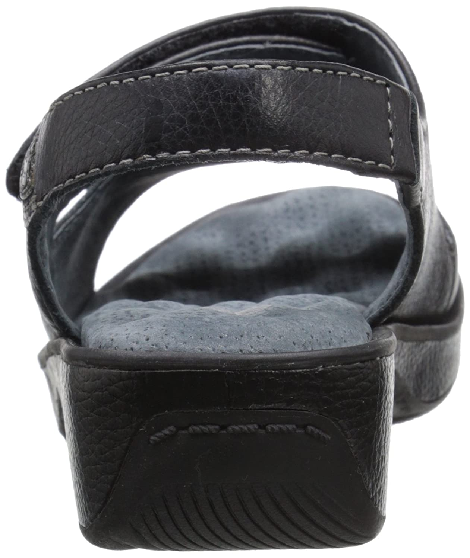 SoftWalk Women's Bolivia Sandal B002J9GUX6 7.5 XW US|Black Glove Leather