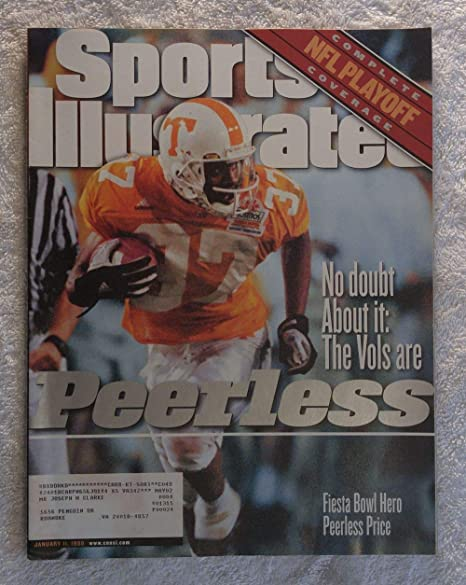 January 11 1999 Peerless Price Tennessee Vols Sports Illustrated NO LABEL 1 Christmas Ornament