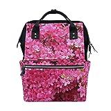 Backpack Pink Azalea Flowers Mens Laptop Backpacks