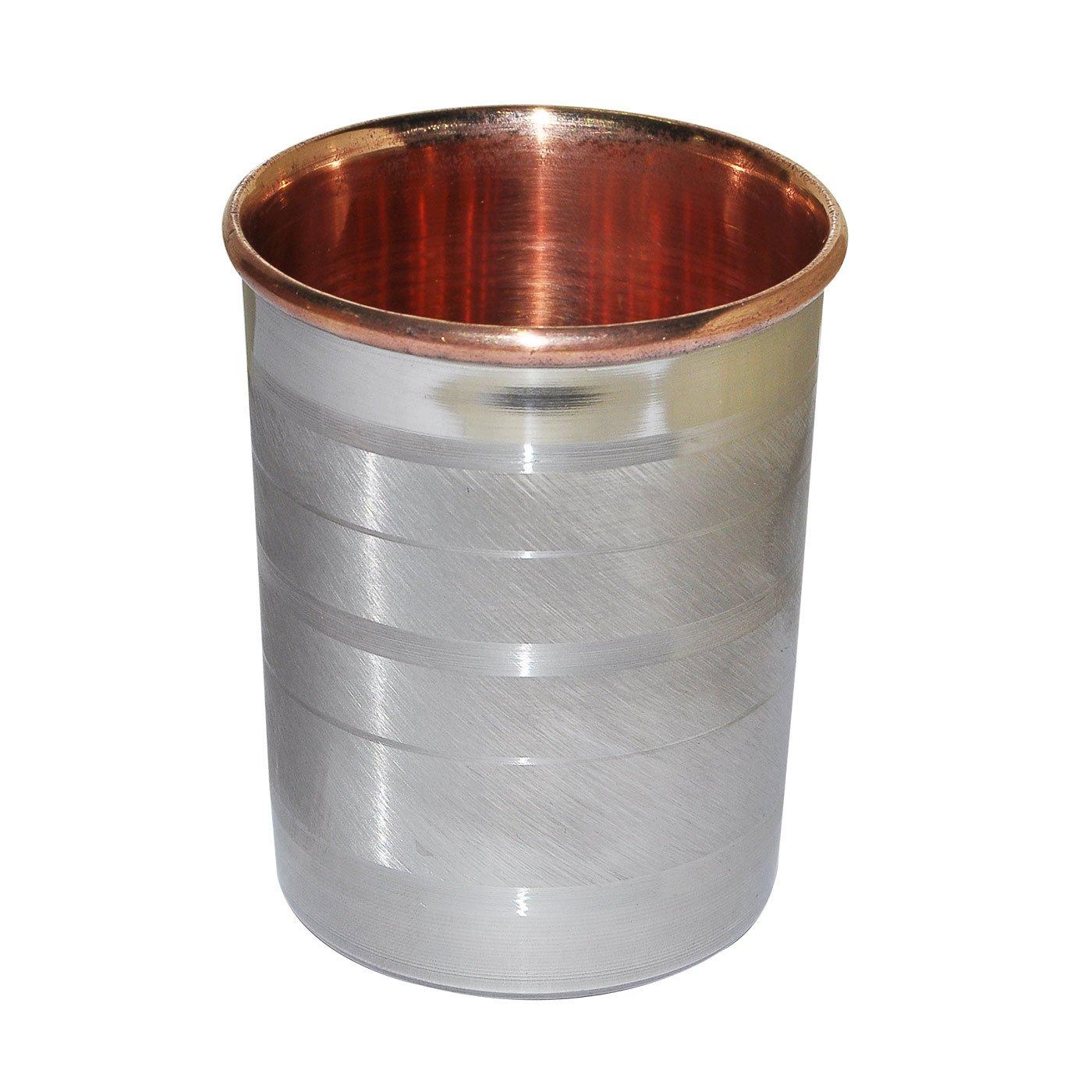 DakshCraft Drink Set Krug mit 6 Trinkgläser Stahl Kupfer ...