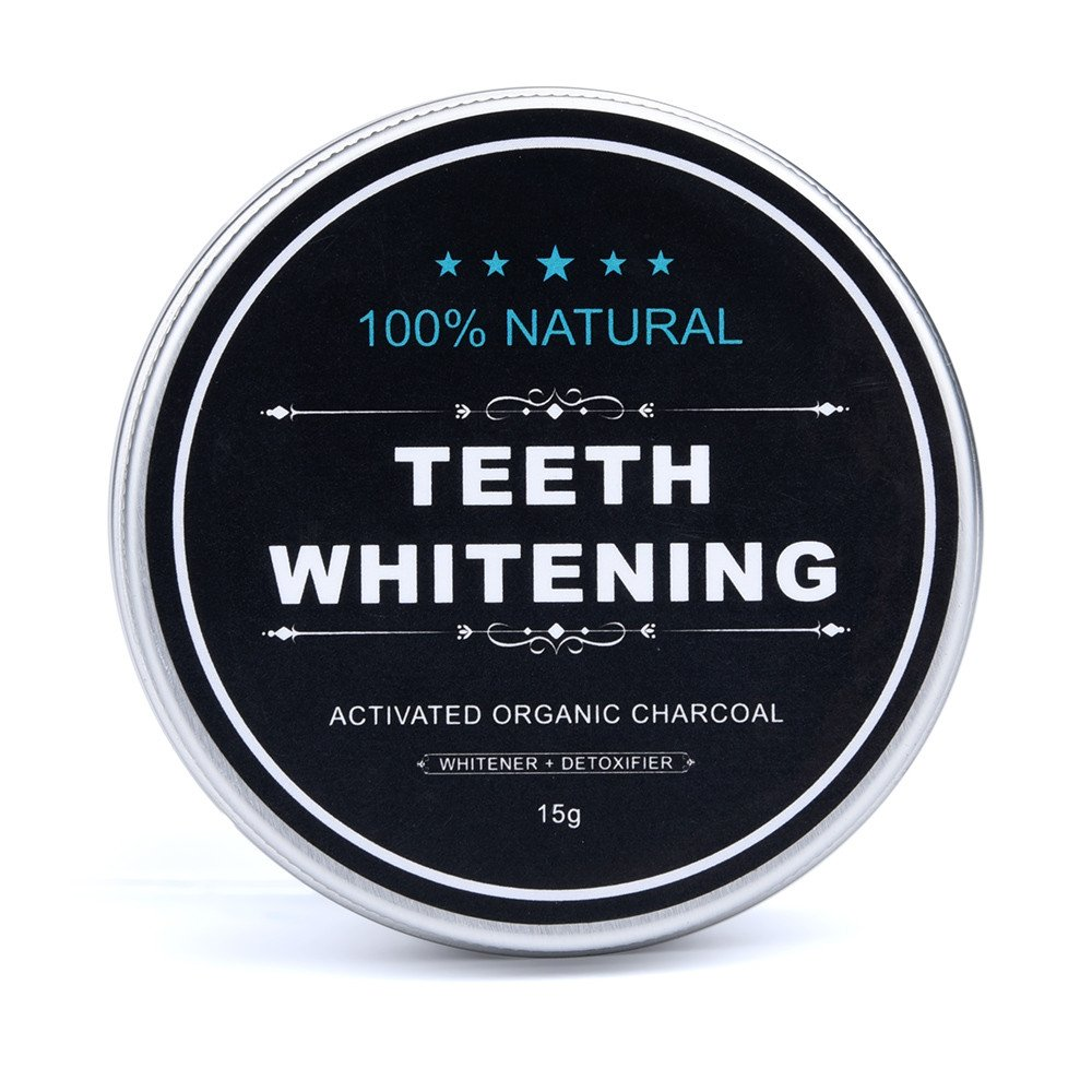 Hennta 15g Natural Organic Activated Charcoal Bamboo Powder Teeth Whitening Total Whites Safe Effective Tooth Whitener Solution for Healthy Whiter Stronger Teeth Tooth Polish