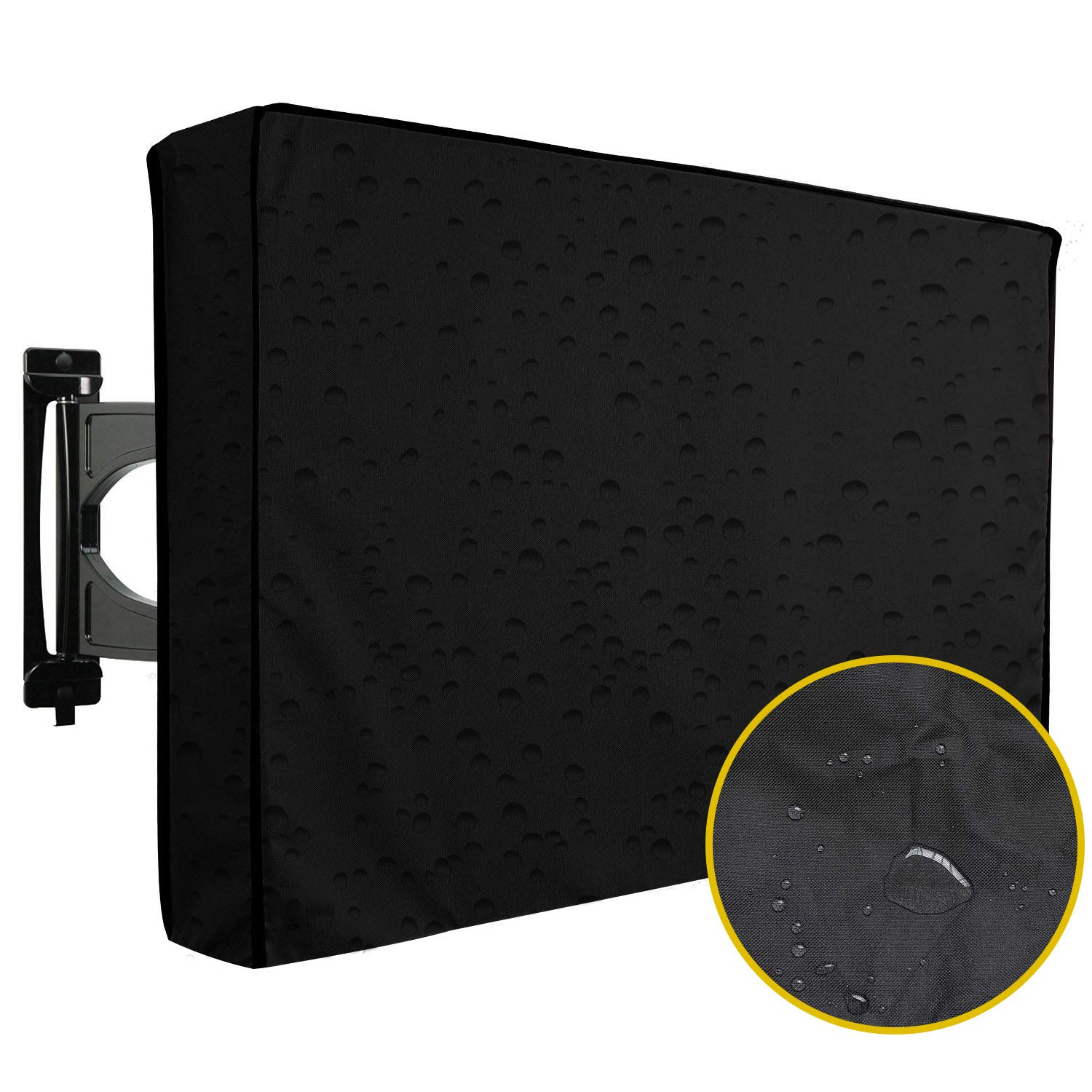Trumno Outdoor TV Cover 50''-52'' inch - Universal Weatherproof Protector for Flat Screen TVs - Fits Most TV Mounts and Stands - Black by Trumno