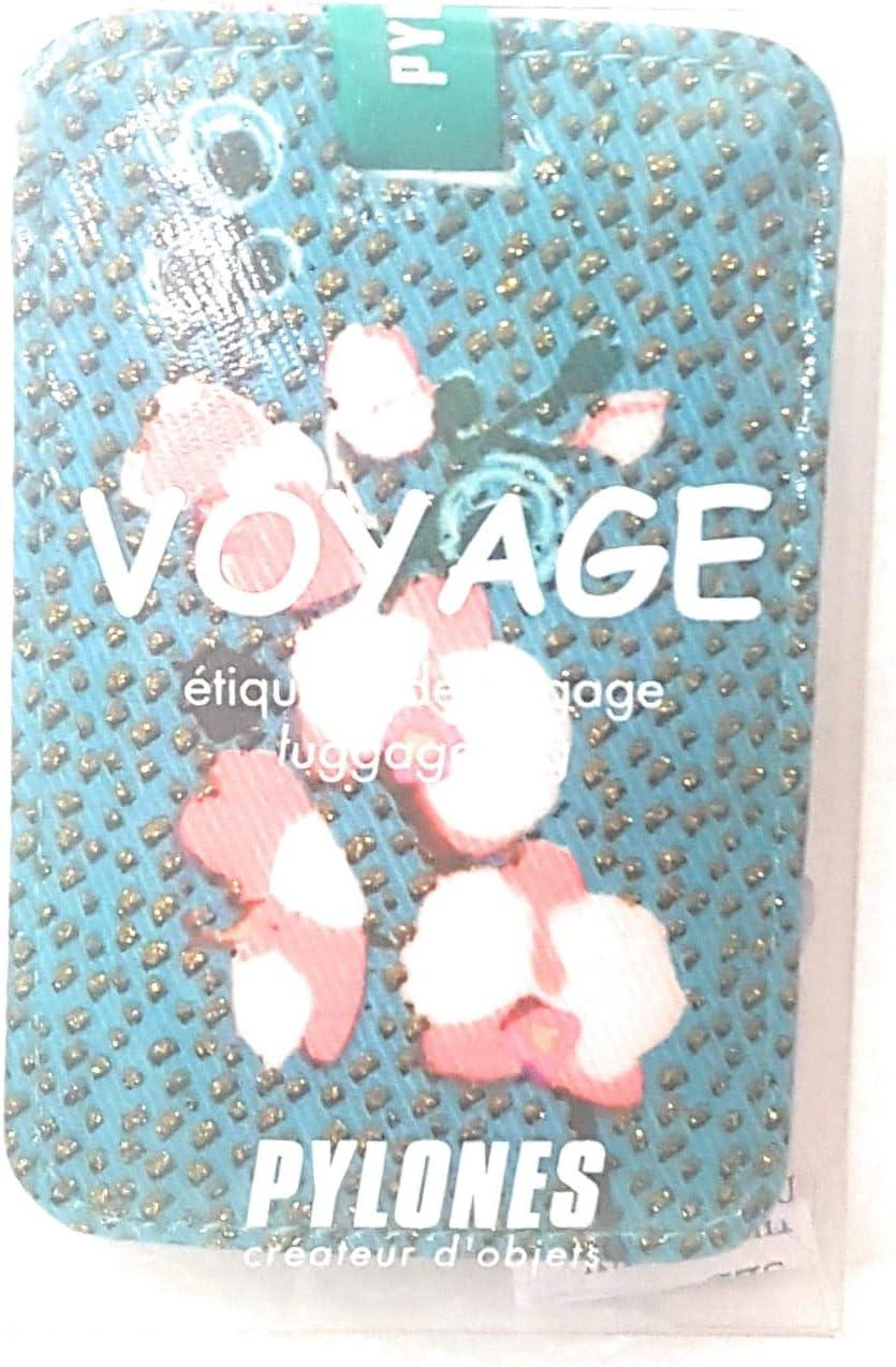 Etiquette de Bagage Voyage Orchid Blue Pylones
