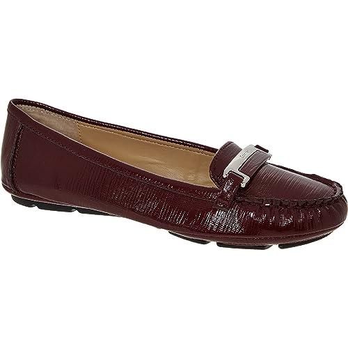 Burdeos Mocasines para Mujer Calvin Klein de Charol Traje de Neopreno para Mujer, Color Beige, Talla 36.5: Amazon.es: Zapatos y complementos