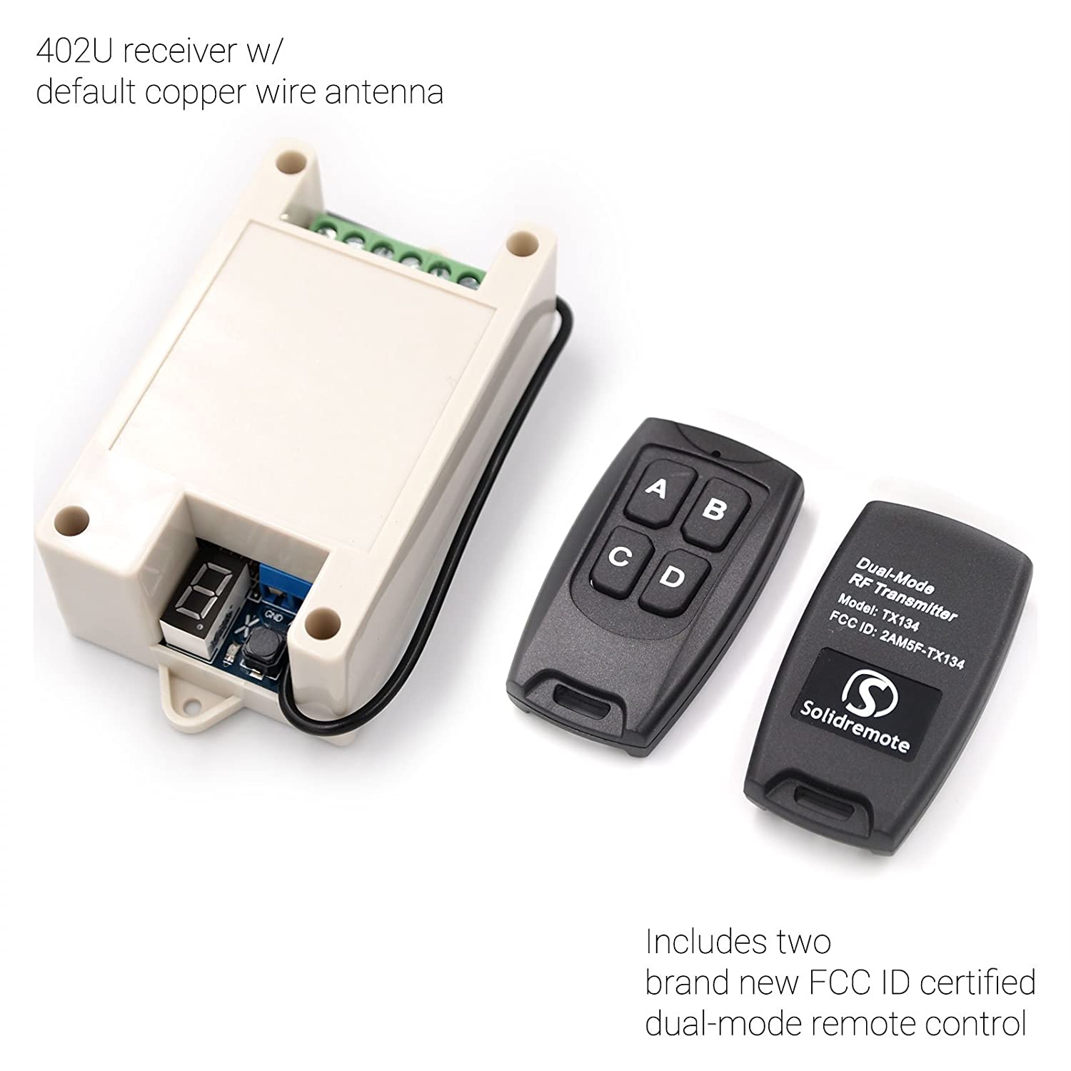 Solidremote Intelligent Wireless Relay Switch Receiver 2 Channel 433mhz 4 Rf Transmitter Circuit Cy046 Buy With Fcc Id Remote Control Transmitters 2017 Next Generation Secure Aes