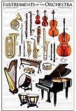 empireposter - Educational - Bildung - Instruments of the Orchestra Musikinstrumente - Größe (cm), ca. 61x91,5 - Poster, NEU - Version in Englisch