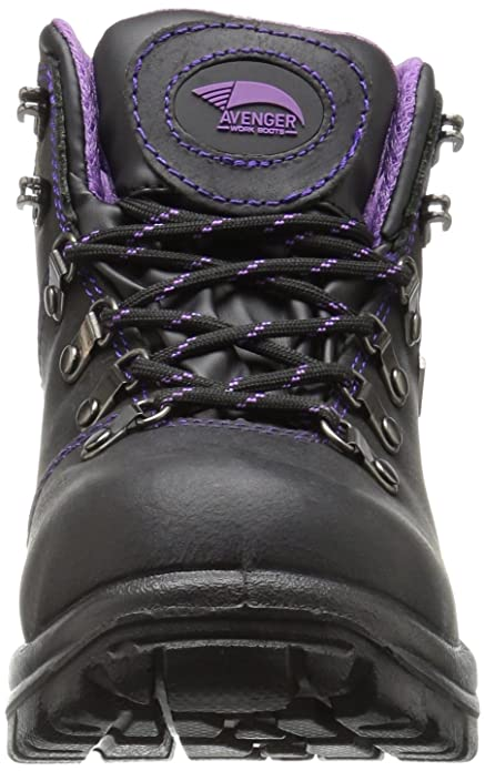 e09255e726f Amazon.com  Avenger Women s 7124 Leather Waterproof EH Slip Resistant Work  Boot  Shoes
