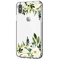 kompatibel mit Hülle iPhone XS, iPhone XS Max/iPhone Xr Hüllel Clear Handyhülle TPU Silikon Backcover Case Blossom Blühen Blumen Flower Schutz HandyHülle Tasche Hülle