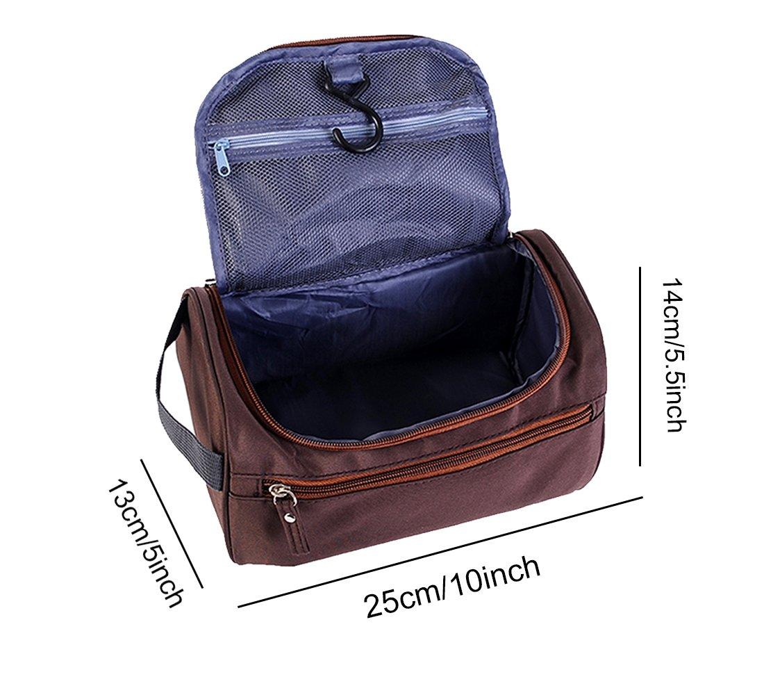 iSuperb Hanging Toiletry Bag Travel Bag Water Resistant Lightweight Wash  Gym Shaving Bag Organizer for Men ... 414a8322e8af2