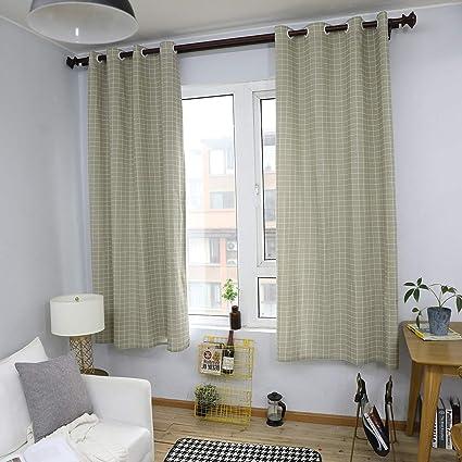 Amazon.com: Gray mesh Curtains - Nordic Plaid Simple Modern Bedroom ...