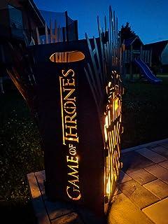 Pottfire Feuersäule Feuerstelle Lichtsäule Feuertonne Ruhrpott