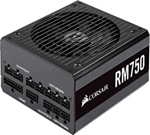 Corsair RM Series, RM750, 750 Watt, 80+ Gold Certified, Fully Modular Power Supply, Microsoft Modern Standby