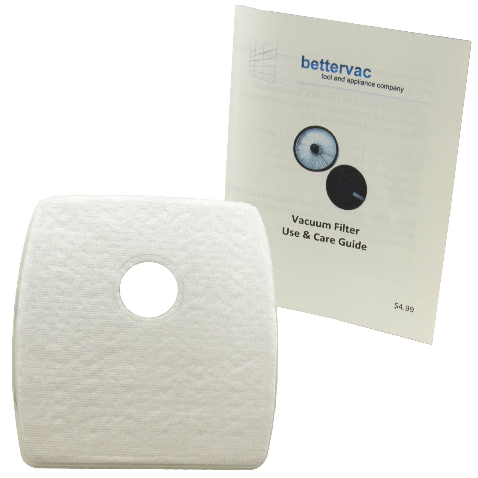 Bissell SmartClean & Digipro Robotic Dust Bin Filter #1607383 Bundled With Use And Care Guide