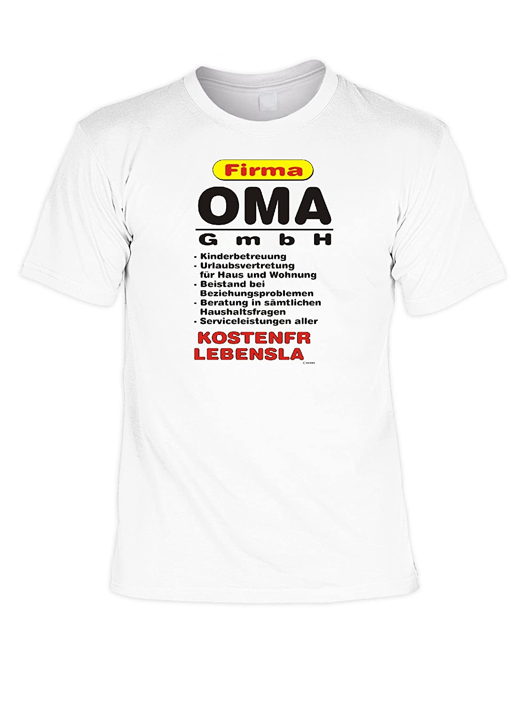 T-Shirt - Firma Oma GmbH - Lustiges Sprüche Shirt als Geschenk für die  Großmutter mit Humor: Amazon.de: Bekleidung