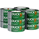 "Duck Brand 284358 All-Purpose Duct Tape, 1.88"" by 45 yd, Silver, 12 Rolls per Pack"