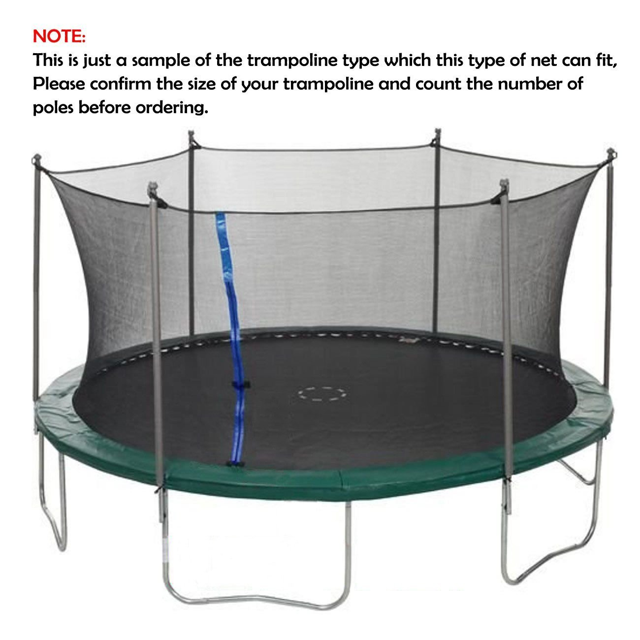 ULTRAPOWER SPORTS Trampoline 13Ft Replacement Safety Enclousure Net for 4 Arched Supports or 8 Straight Poles Round Frame Trampolines (Net Only) … by ULTRAPOWER SPORTS (Image #5)