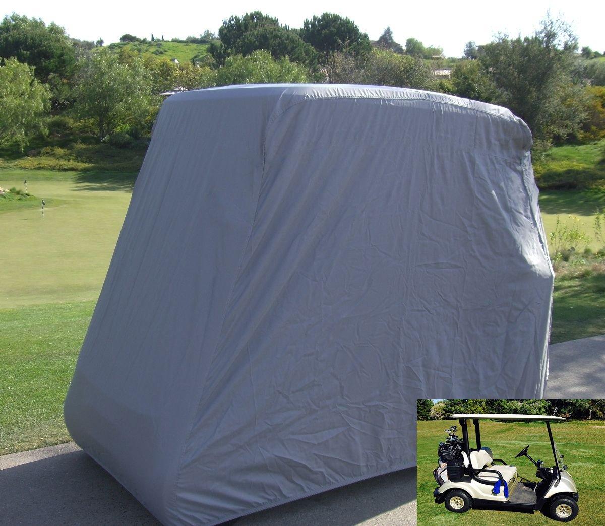2 Passenger防水防塵ゴルフカートカバーby Lmeison Fits Ez Go、クラブ、車とYamahaゴルフカート,グレー   B07DR5BP49