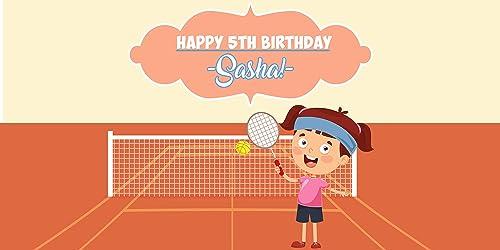 Amazon Com Happy Birthday Tennis Kid Banner Personalized Party Decoration Backdrop Handmade