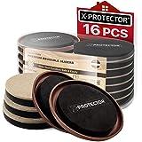 Furniture Sliders X-PROTECTOR 16 PCS - Furniture Sliders Hardwood Floors & Felt Furniture Movers - Moving Pads All Floor…