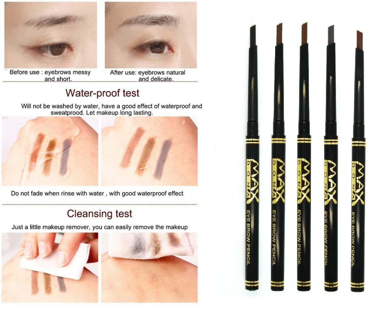 Buy Cgt Retractable Durable Eyebrow Pencil For Makeup Coffee Brown