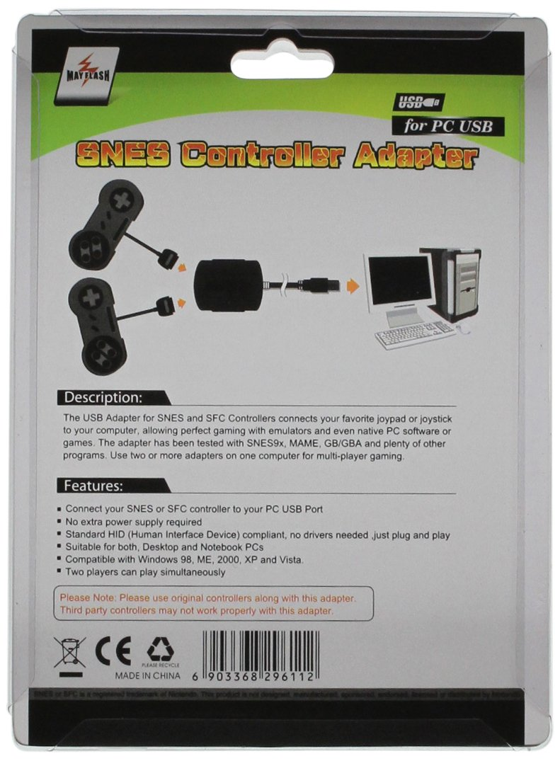 Amazon com: SNES Controller to Adapter for PC USB: Super NES: Video