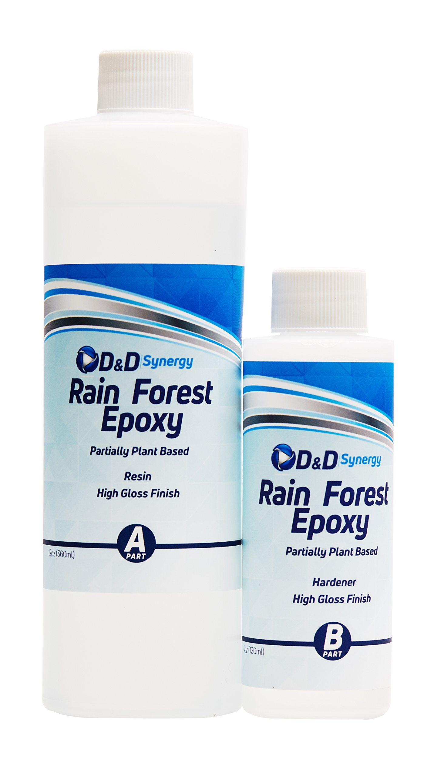 Rain Forest Epoxy - Commercial Grade Crystal Clear Epoxy Resin for Bar Tops & Tables - 16 oz Kit.