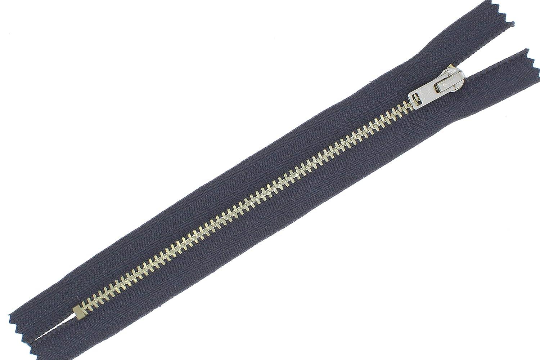Rei/ßverschl/üsse Silber-Metall Rei/ßverschluss 3mm Nicht-teilbar beige - 308, L/änge nach Dem Kauf Angeben max.21cm zipworld Hosen M z.B. 7cm