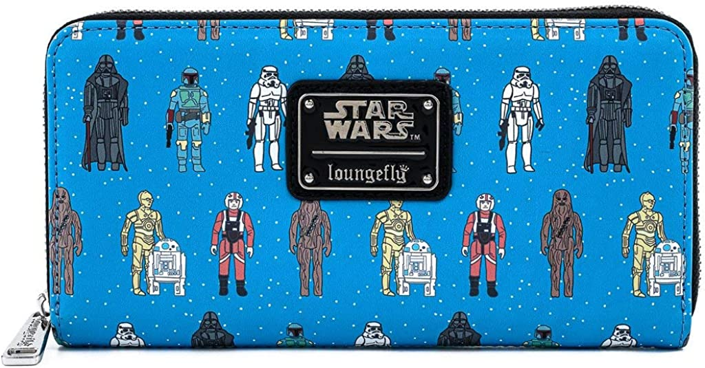 Loungefly Star Wars Action Figure Print Faux Leather Wallet