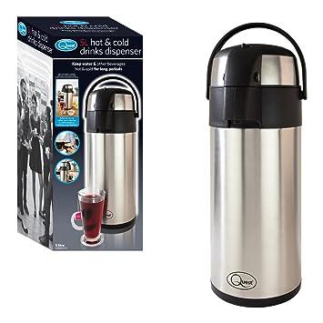 Quest 35740 - Dispensador de agua caliente con bomba de acción, 5 litros, color negro y plateado: Amazon.es: Hogar