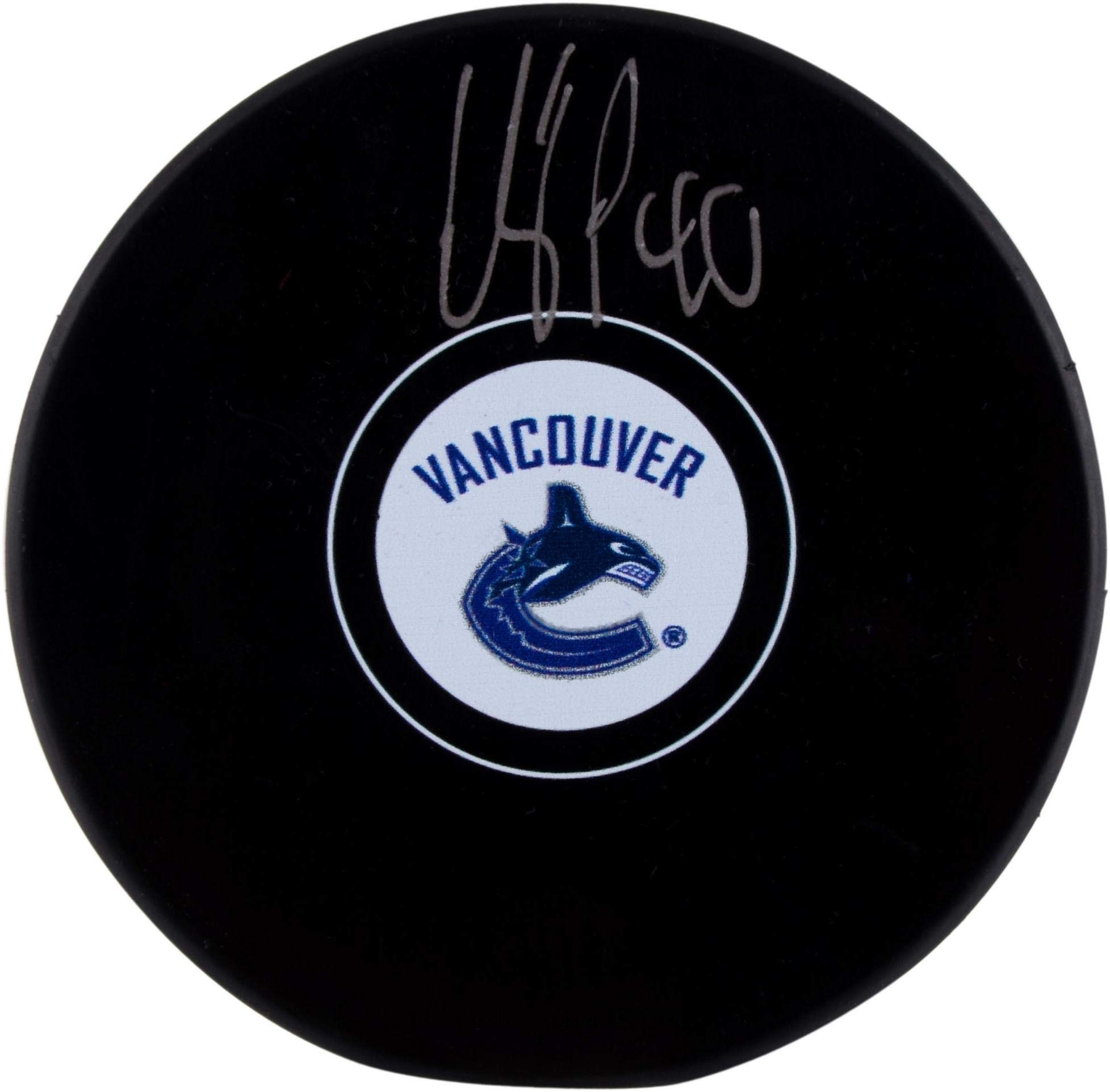 Elias Pettersson Vancouver Canucks Autographed Hockey Puck Fanatics Authentic Certified Autographed NHL Pucks