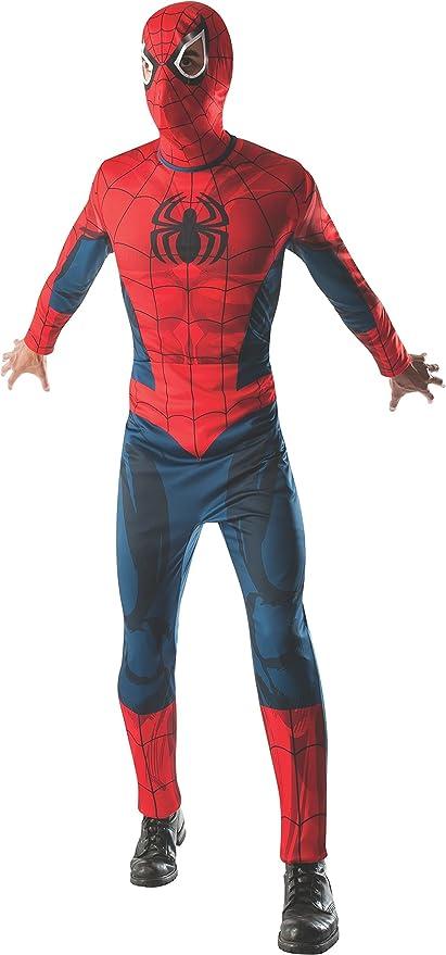 Disfraz de Spiderman para Adultos, de Marvel, los Vengadores, Superhéroe, para Hombre