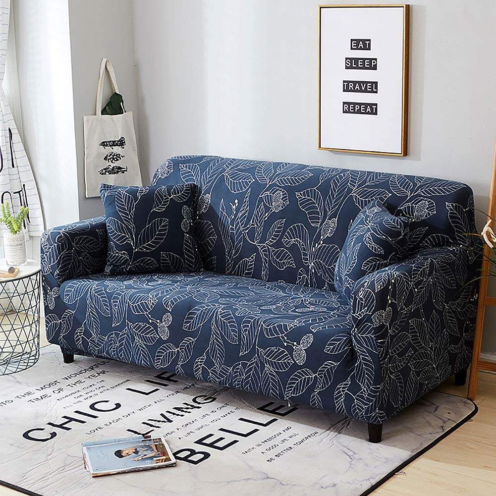 Jaoul Floral Loveseat Slipcovers Stretch Couch Cover Printed Sofa Slipcovers for 2 Cushions Couch Slipcover Small Furniture Sofa Covers with 2 Pillow Cases