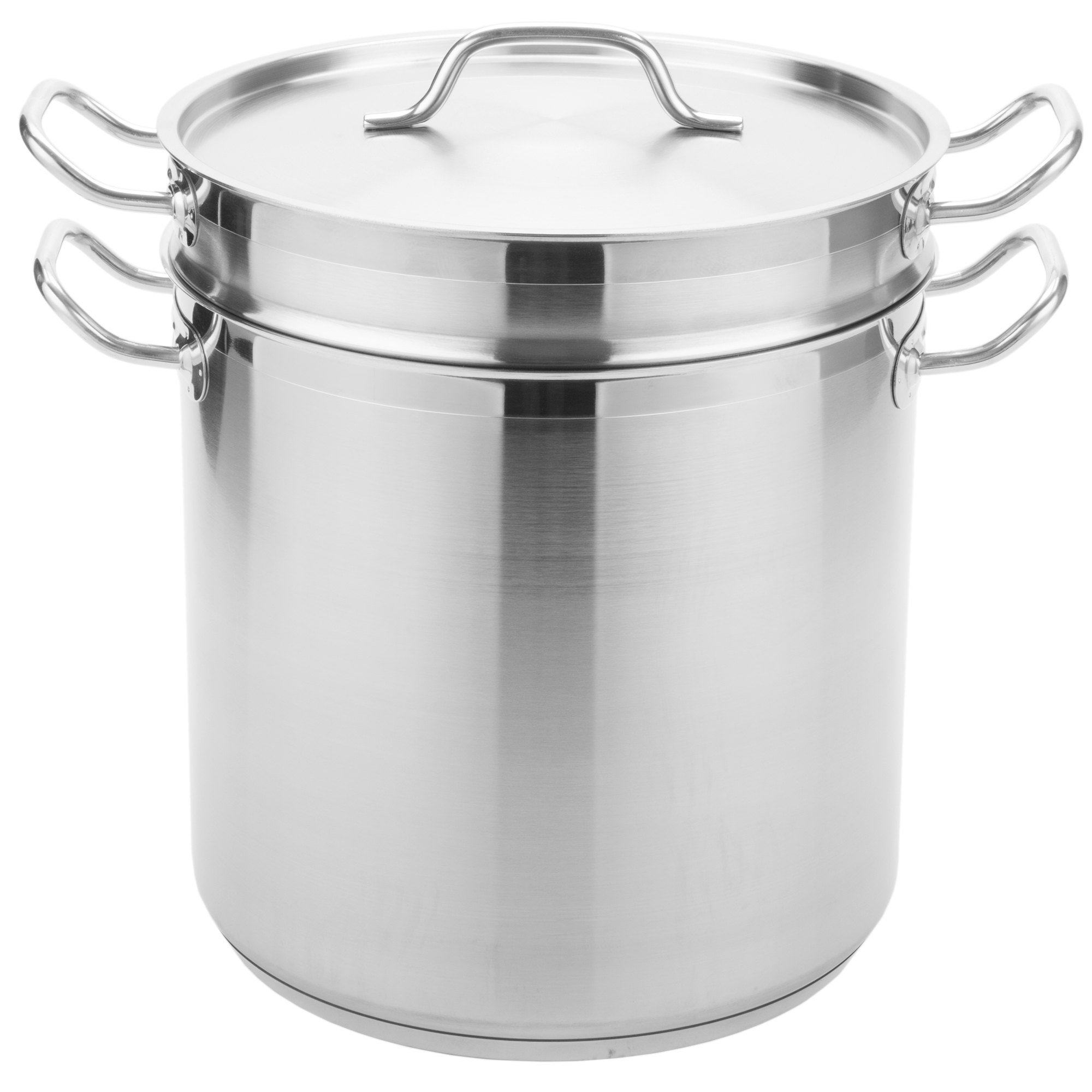 TableTop King 20 Qt. Stainless Steel Aluminum-Clad Pasta Cooker Combination