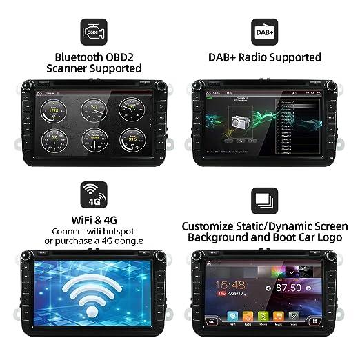Android 9.0 Autoradio 2 Din Car Stereo Compatible para Volkswagen ...