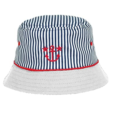 d58a0c4688003 Baby Boys Cute Summer Blue Anchor Hat with White Trim - 100% Cotton - 12-18  Months  Amazon.co.uk  Clothing