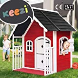 Kids Cubby House Cottage Style Outdoor Furniture Wooden Playhouse Children