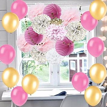 Kit completo de 25 Unids ideales rosas y dorados feliz cumpleaños sorpresa ¡¡diseños fiestas