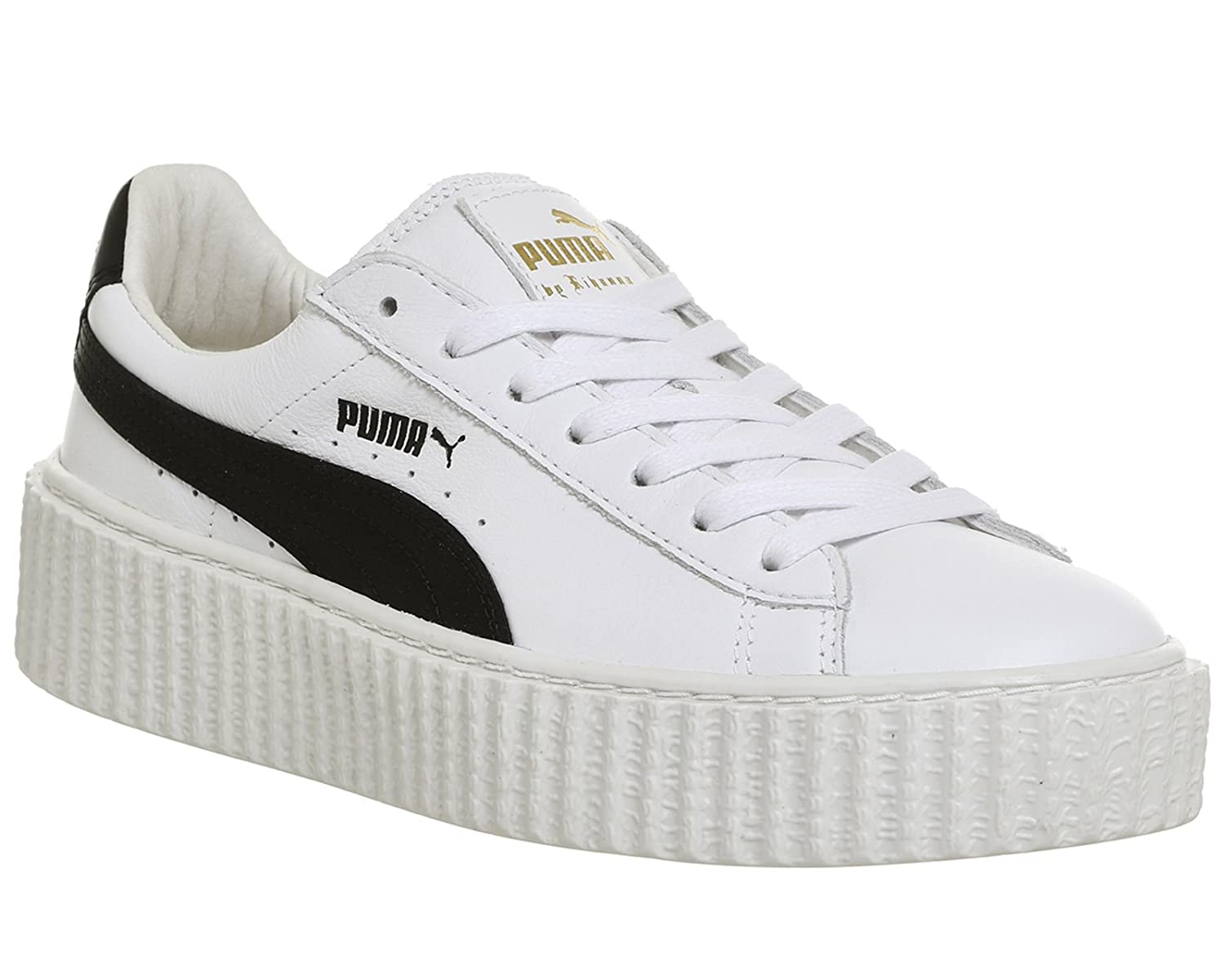 PUMA Women's x Fenty Cracked Creeper Sneakers B06Y3WB443 5.5 W US|Puma White-black-puma White
